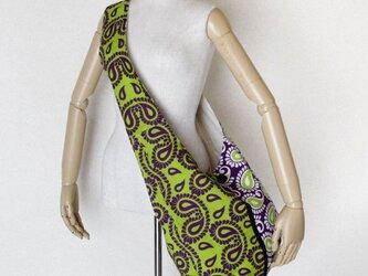 アフリカ布のショルダーバッグ   ペイズリーの画像