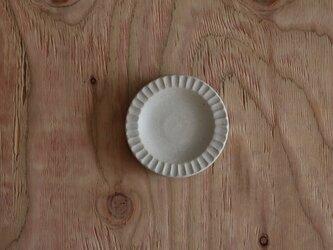 しのぎ豆皿 白の画像