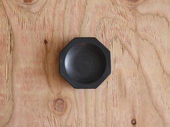 八角豆皿 黒の画像