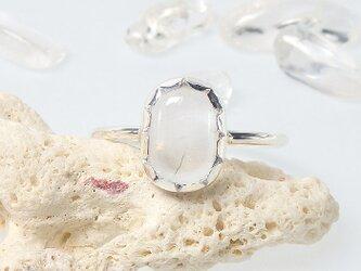 ~神々しい輝き~ マニカラン産 ヒマラヤ水晶のリング 16.5号の画像