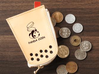 タピオカの本革コインケース「パンダ」の画像