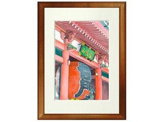 世界で1枚の絵 水彩画原画「浅草寺」の画像