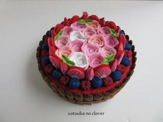 《直径14.5㎝》フラワーブーケのケーキ①の画像