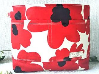 赤い花 バックインバックの画像