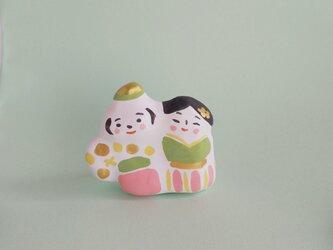 張り子 春のひな人形  小(a)の画像