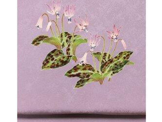 「かたくりの花」手描き友禅 染名古屋帯の画像