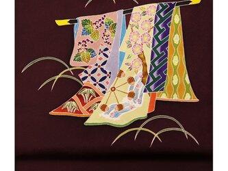 「誰ヶ袖模様」手描き友禅 染名古屋帯の画像