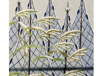 「雛罌粟(ひなげし)」手描き友禅 染名古屋帯の画像