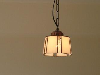 シンプル和テイスト ステンドグラスのペンダントライトの画像