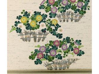 「ウンスン歌留多」手描き友禅 染名古屋帯の画像