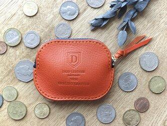 イタリア革のコインケース /オレンジの画像