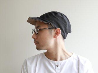 Reversible cap / black×beigeの画像