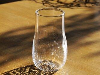 無色透明のグラス - 「KAZEの肌 」#355・ 高さ13cmの画像