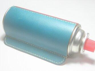 ♪オーダーメイド レザー CB缶カバー 横置きスタンド ガス缶 アウトドア キャンプギア♪の画像