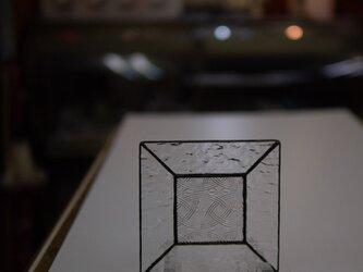 120mmスクエアなステンドグラス(クリアー系)・・・05の画像
