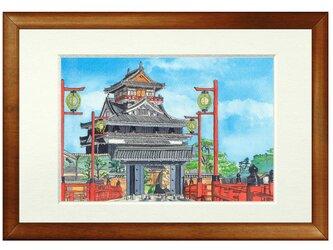 世界で1枚の絵 水彩画原画「清洲城」の画像