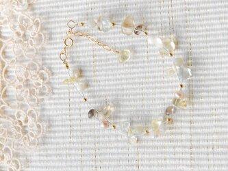 春色のナイロンコートワイヤーブレスレット ミモザ14kgfの画像