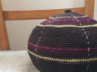 丸い帽子・タータンチェック風 BRの画像