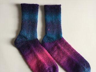 手編み靴下【RELLANA コリブリ 6211】の画像