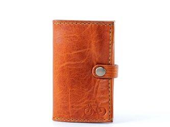カードサイズの三つ折り財布(ブラウン)の画像