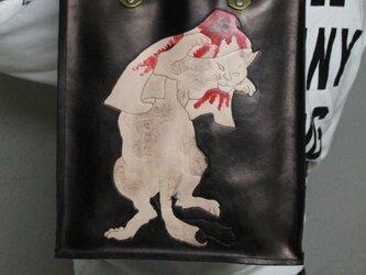 ボックスバッグ 浮世絵『化け猫』の画像