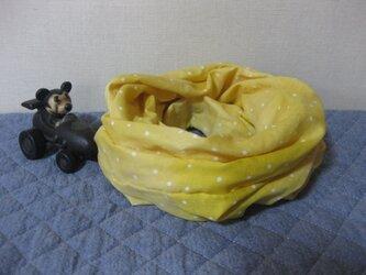 ダブルガーゼスヌード《イエロードット・二重》の画像