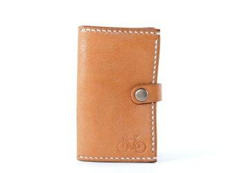 カードサイズの三つ折り財布(ナチュラル)の画像