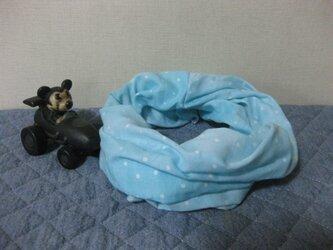 ダブルガーゼスヌード《ブルーミントドット・一重》の画像