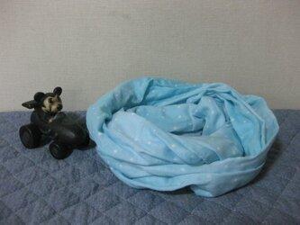 ダブルガーゼスヌード《ブルーミントドット・二重》の画像