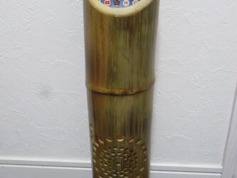 とてもクリアな音のする竹の スマホ スタンド スピーカー&ランプシェード2の画像