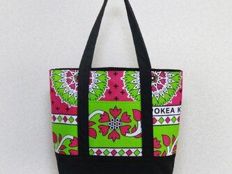 アフリカ布「カンガ」のトートバッグ  軽くて大容量!の画像