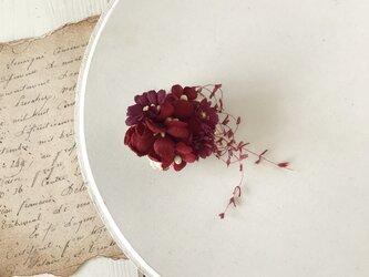 染め花のミニミニクリップ(レッド)の画像