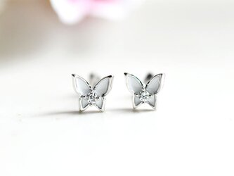 バタフライ(蝶々)のピアス イヤリング 1ペア用 2色の画像