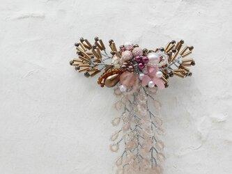 枝垂桜のコサージュブローチBの画像