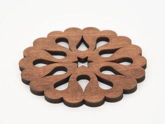 ウッドコースター「フルーツ」(木製コースター)の画像