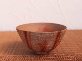 備前焼 飯碗・ひだすき(中) m2-027の画像