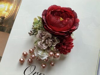 カップ咲きローズのコサージュ *卒業式*入学式*結婚式の画像