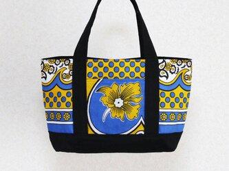 アフリカ布「カンガ」のトートバッグ  横長タイプの画像