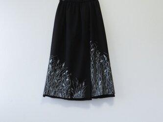 *アンティーク着物*麦模様駒絽と錦紗の重ねスカート(裏地つき)の画像