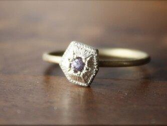 Fragment ColorChange Garnet ring K18YG*K10WG FMR-18WGの画像