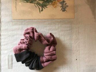 コットンリネンのふんわりシュシュ(152)の画像