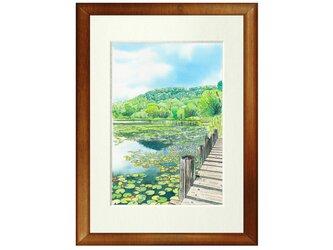 世界で1枚の絵 水彩画原画「志賀高原 一沼」の画像