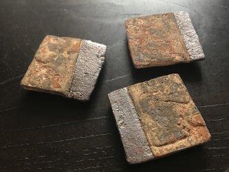 焼締掛け分け板小皿&箸置きの画像