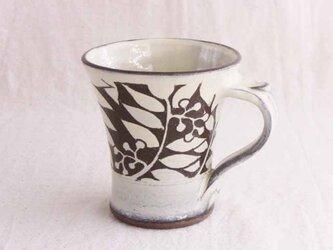 ナナカマド白いマグカップ(透明)/オーダー受付可の画像