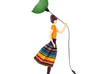【2020年春モデル】風のリトルガールおしゃれランプ Korina スタンドライト 受注製作 送料無料の画像