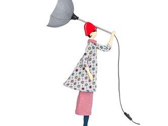 【2020年春モデル】風のリトルガールおしゃれランプ Lorraine フロアライト 受注製作 送料無料の画像