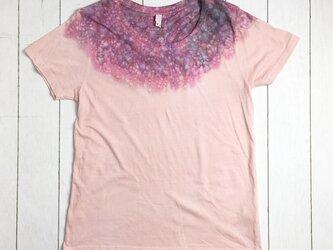 手染めレディースTシャツ L しずく シェルピンクの画像
