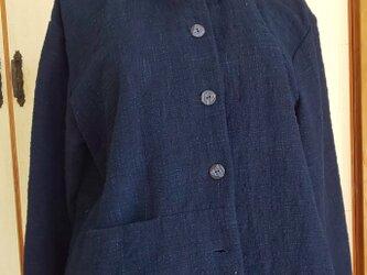藍染の木綿のジャケットの画像