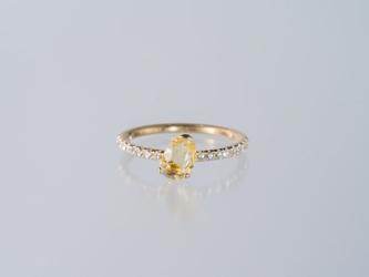 Rohmer イエローサファイアダイヤモンドリングの画像