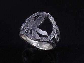 指輪 メンズ : 八咫烏 リング 燻し加工 シルバーリング 神話 14~24号の画像